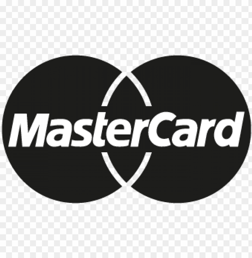 mastercard black vector logo - mastercard logo one color PNG image