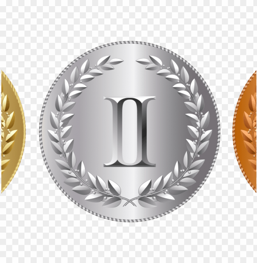 Gold, Silver, and Bronze Medals clipart. Free download transparent .PNG    Creazilla