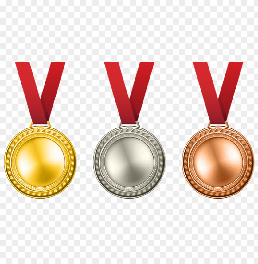 free PNG Download medals set transparent clipart png photo   PNG images transparent