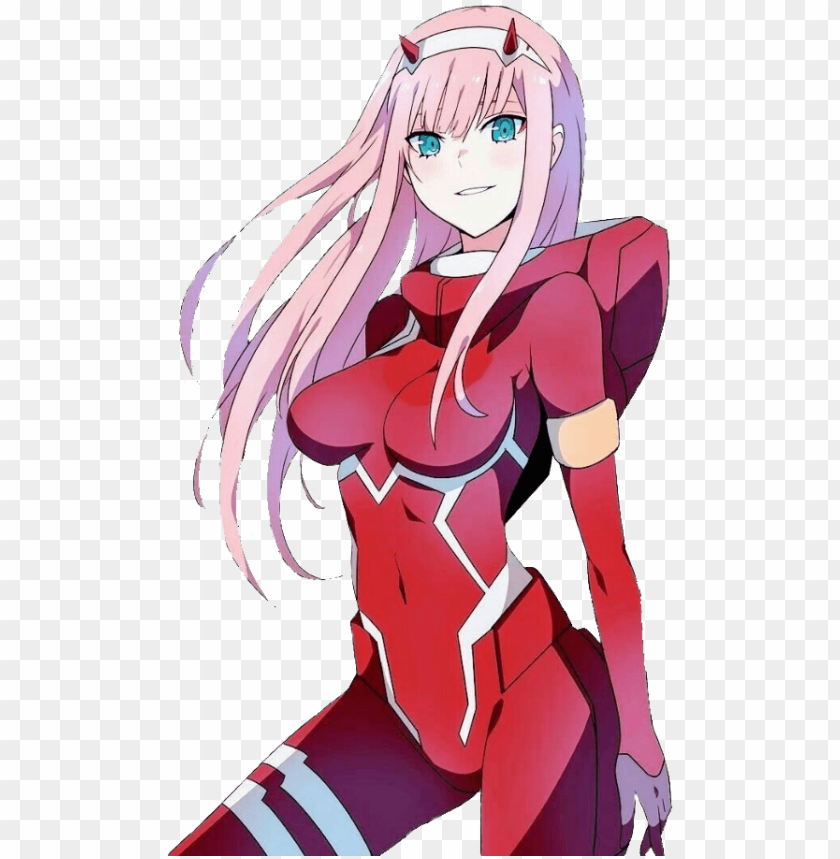 Mediapng 002 For Those Who Want To Make Cool Wallpapers Darling In The Franxx Zero Two Png Image With Transparent Background Toppng