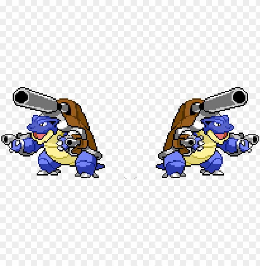 Mega Blastoise Blastoise Pixel Art Shiny Png Image With