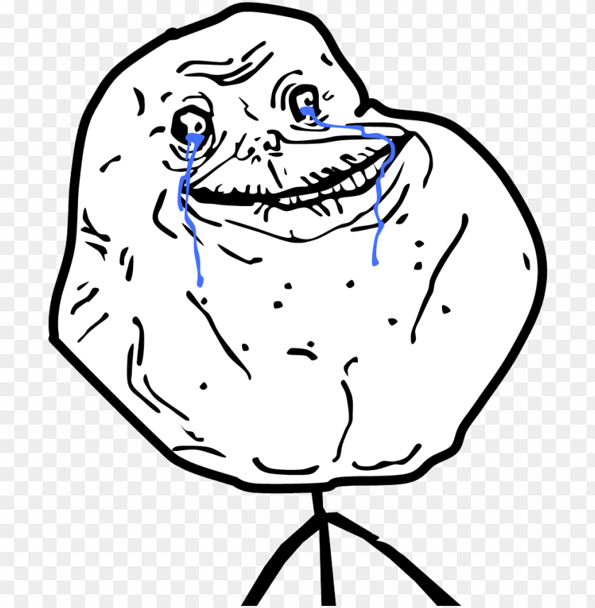 Memes Trollface Caras Forever Alone Guy Png Image With Transparent Background Toppng