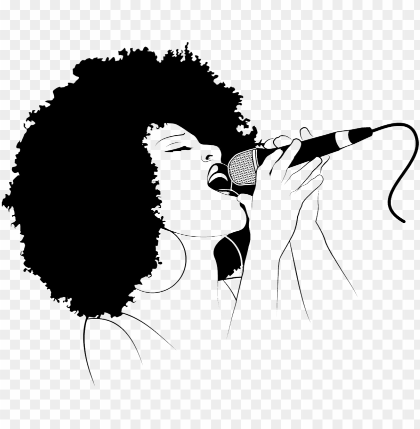 free PNG menu - black woman singing silhouette PNG image with transparent background PNG images transparent