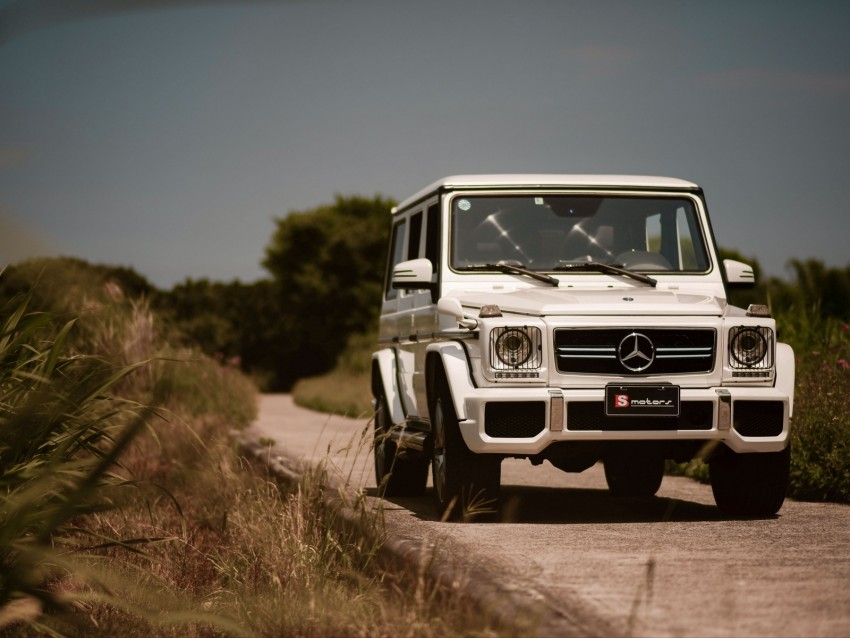 free PNG mercedes-benz g 63 amg, mercedes, car, suv, white, front view background PNG images transparent