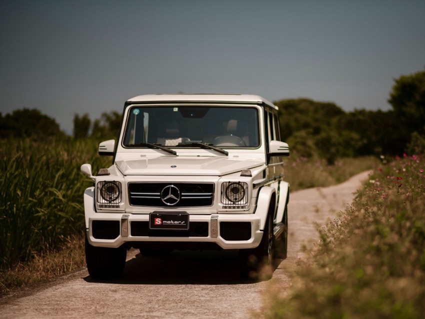 free PNG mercedes-benz g63 amg, mercedes, car, suv, white, front view background PNG images transparent