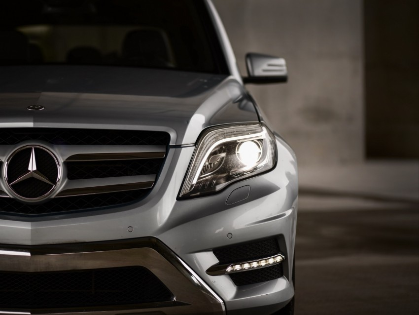 free PNG mercedes-benz glk350, mercedes, car, gray, front view, headlight background PNG images transparent