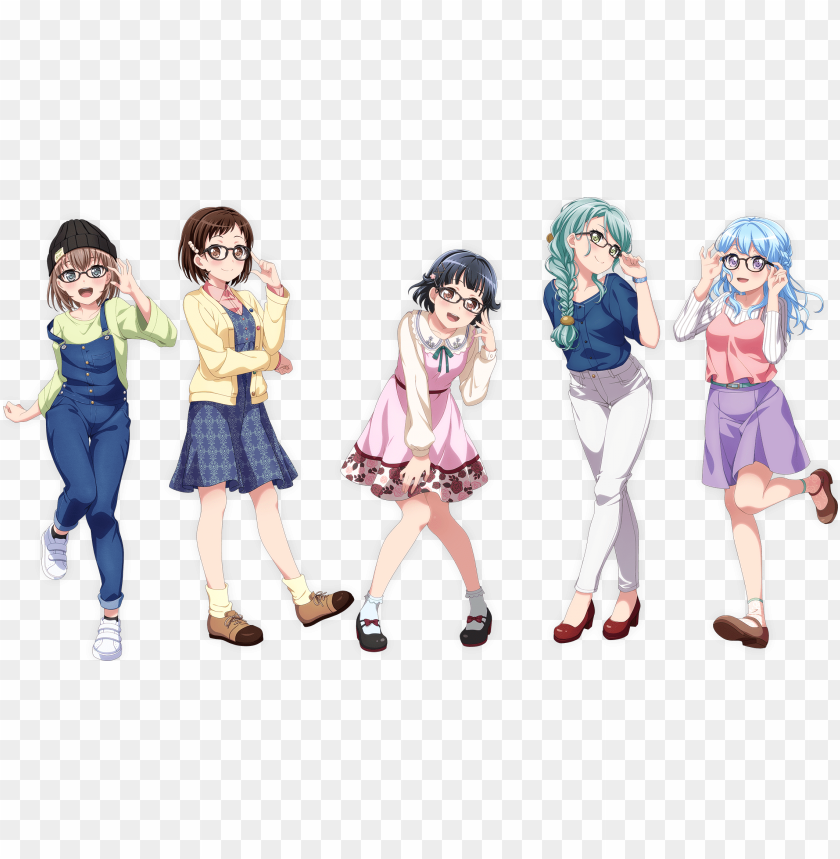 free PNG merchandisej ns×gbp band-themed glasses collaboration - バンドリ jins PNG image with transparent background PNG images transparent