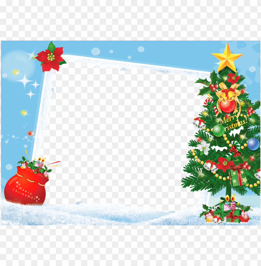 free PNG merry christmas frame tree gifts PNG image with transparent background PNG images transparent