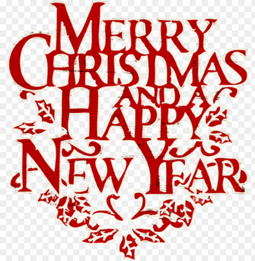 free PNG merry christmas words merry christmas and happy new - happy new year and merry christmas word PNG image with transparent background PNG images transparent