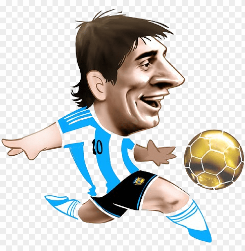 free PNG messi football soccer, soccer players, cartoon pics, - caricaturas futbol PNG image with transparent background PNG images transparent