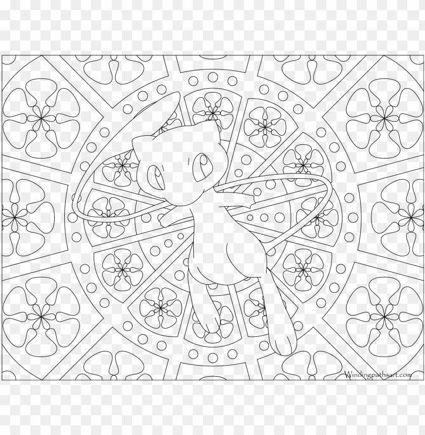Mew Pokemon Printables Pictures Png Mew Pokemon Printables Mandala Coloring Pages Pokemon Mew Png Image With Transparent Background Toppng