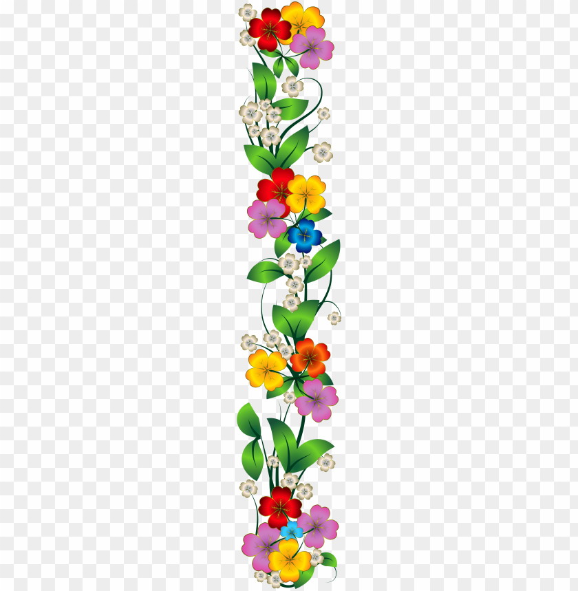Mexican Flowers Clipart Png Side Flower Border Png Image