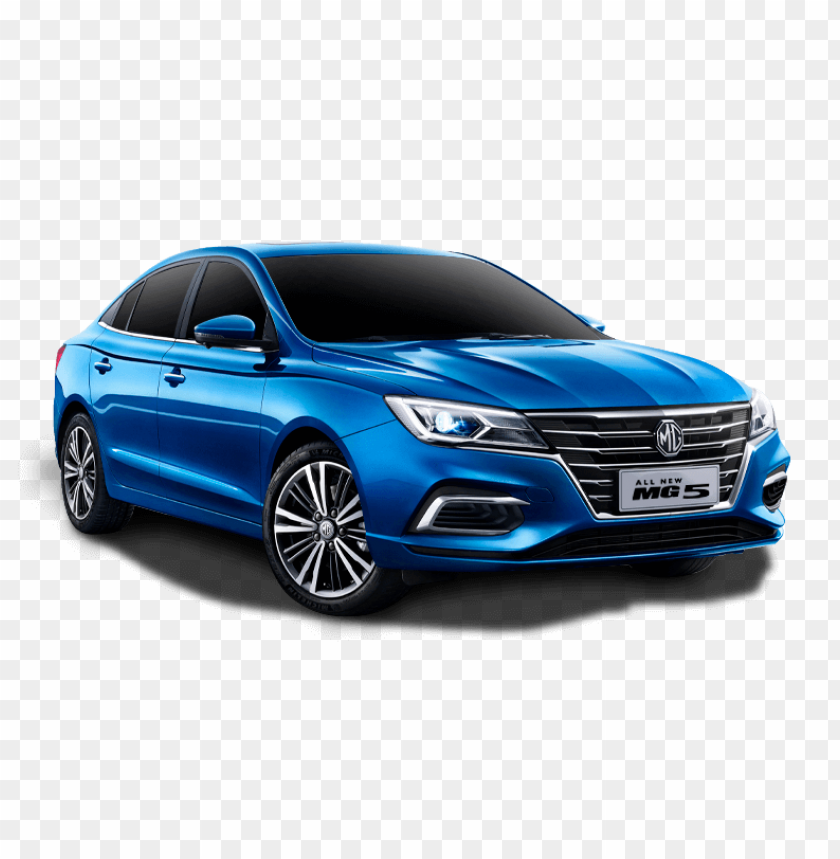 free PNG mg5 blue car 2020 PNG image with transparent background PNG images transparent