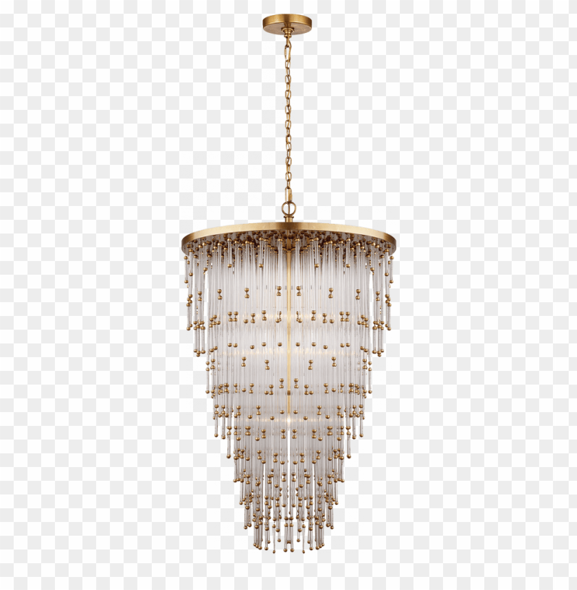 free PNG mia large chandelier in clear glass - mia large pendant - brass/glass - visual comfort PNG image with transparent background PNG images transparent