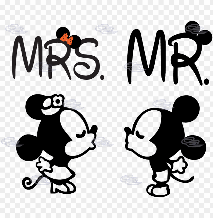 free PNG mickey and minnie mouse silhouette - minnie et mickey mouse kiss PNG image with transparent background PNG images transparent