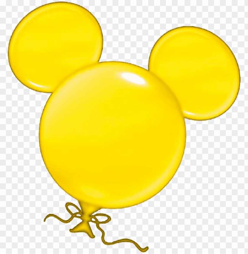 free PNG mickey balloon - mickey mouse balloon clipart PNG image with transparent background PNG images transparent