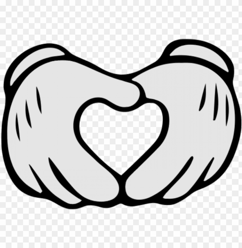 free PNG mickey hand vector mickey mouse hands heart mickey - cartoon mickey mouse hands PNG image with transparent background PNG images transparent