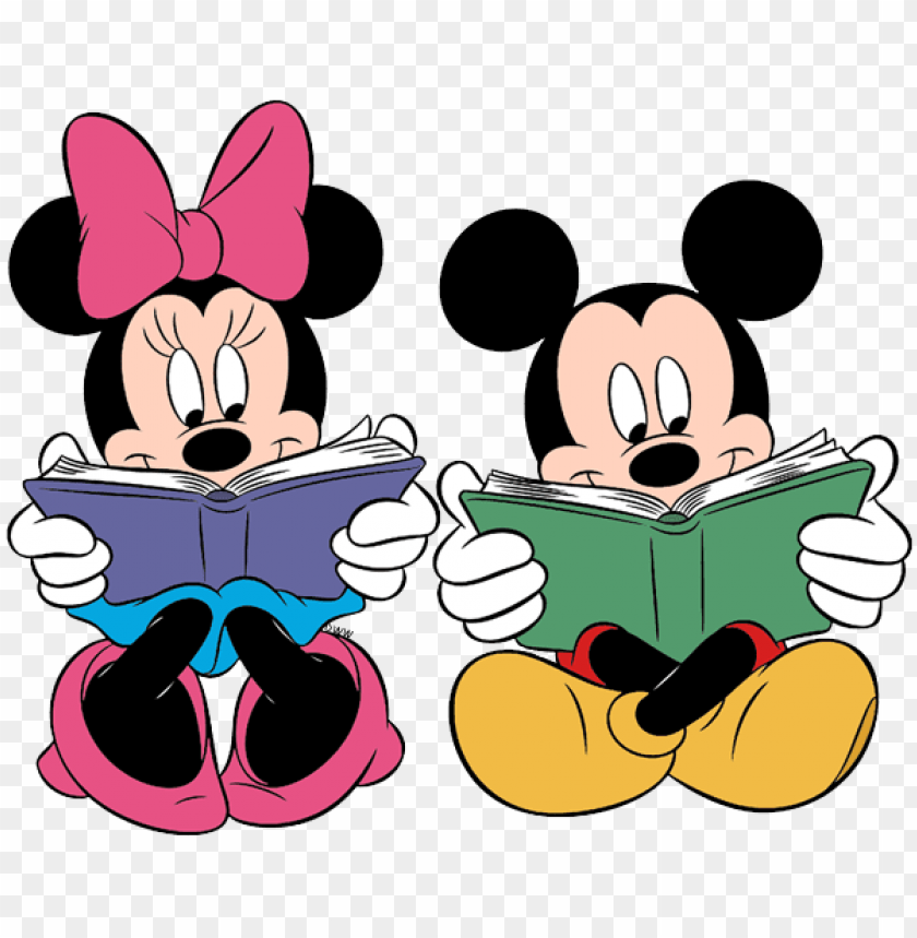 free PNG mickey minnie reading - mickey and minnie mouse readi PNG image with transparent background PNG images transparent
