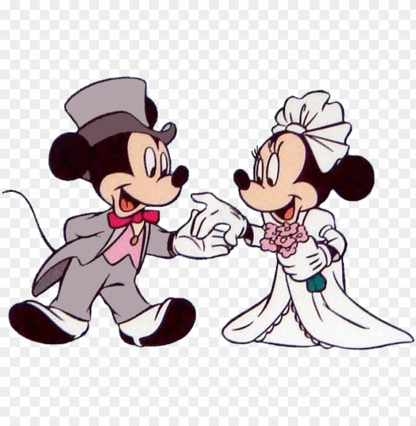 free PNG mickey & minnie wed - mickey and minnie weddi PNG image with transparent background PNG images transparent