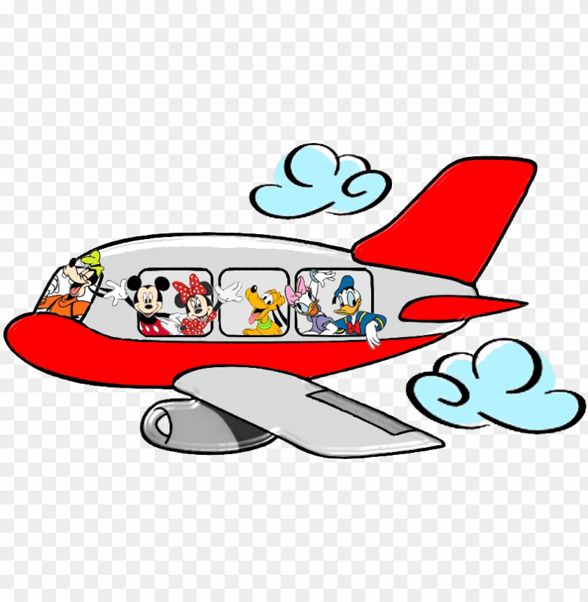 free PNG mickey mouse airplane clipart - mickey mouse on a plane PNG image with transparent background PNG images transparent