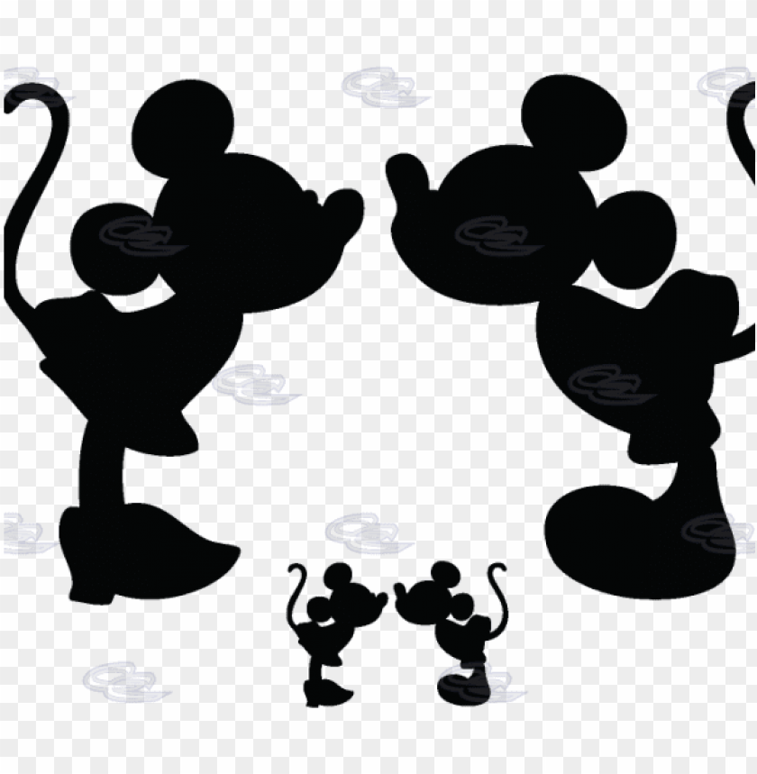 free PNG mickey mouse and minnie mouse silhouette PNG image with transparent background PNG images transparent