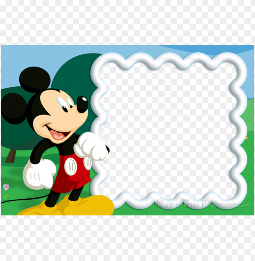 free PNG mickey mouse birthday, mickey mouse clubhouse party, - molduras do mickey para convite de aniversario PNG image with transparent background PNG images transparent