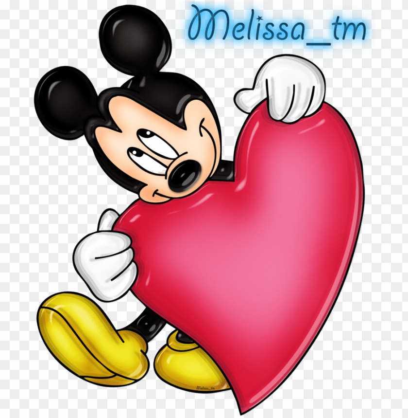 free PNG mickey mouse clipart heart - mickey mouse with heart PNG image with transparent background PNG images transparent