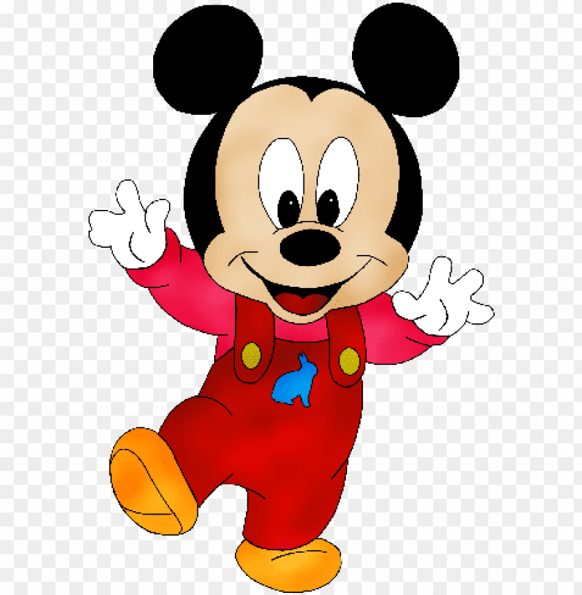 free PNG mickey mouse disney clipart - baby mickey mouse red PNG image with transparent background PNG images transparent