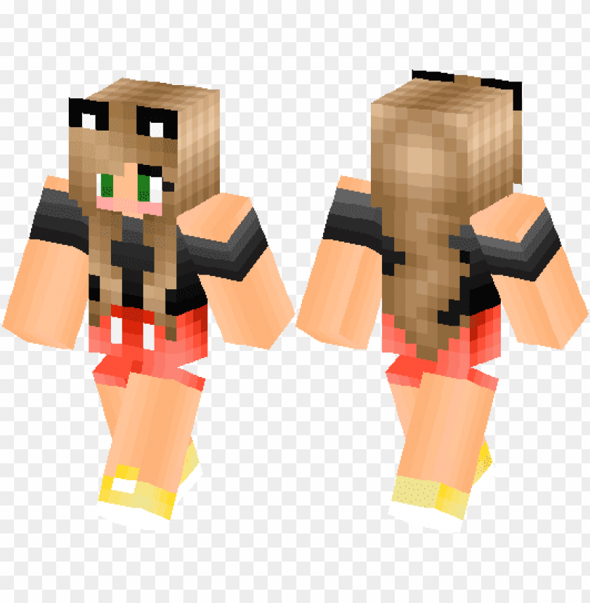 free PNG mickey mouse girl version minecraft skin minecraft - mickey mouse girl minecraft ski PNG image with transparent background PNG images transparent