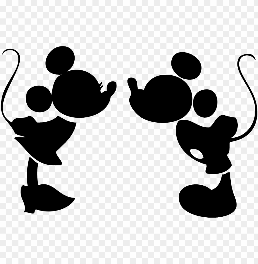 free PNG mickey mouse head vector - mickey mouse and minnie mouse silhouette PNG image with transparent background PNG images transparent