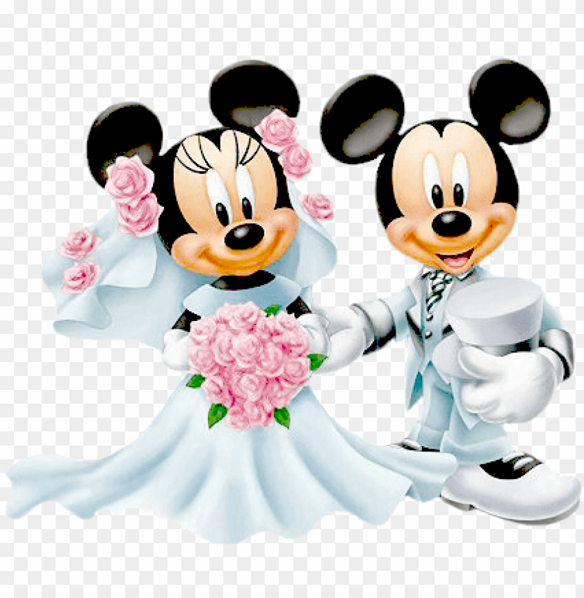 Mickey Mouse Minnie Mouse Wedding Png Image With Transparent