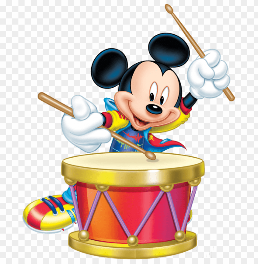free PNG Download mickey mouse with drum transparent clipart png photo   PNG images transparent