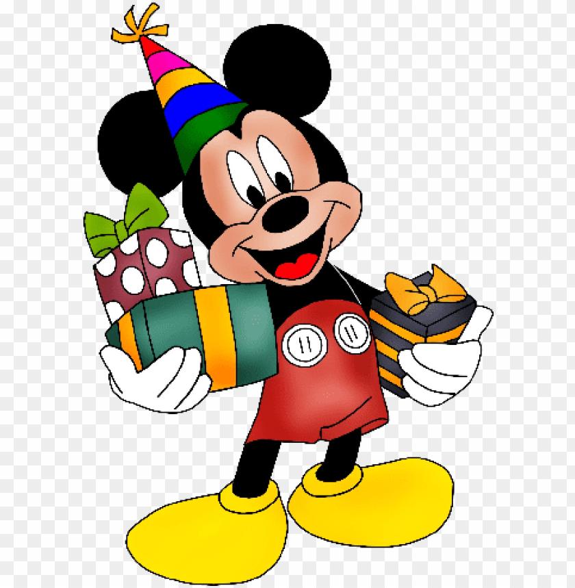 Micky Mouse Wearing Birthday Cap Topo De Bolo Mickey Para
