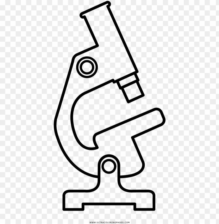 free PNG microscope coloring page - microscopio en dibujo para colorear PNG image with transparent background PNG images transparent