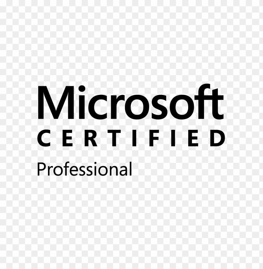 free PNG microsoft certified professional logo png - Free PNG Images PNG images transparent
