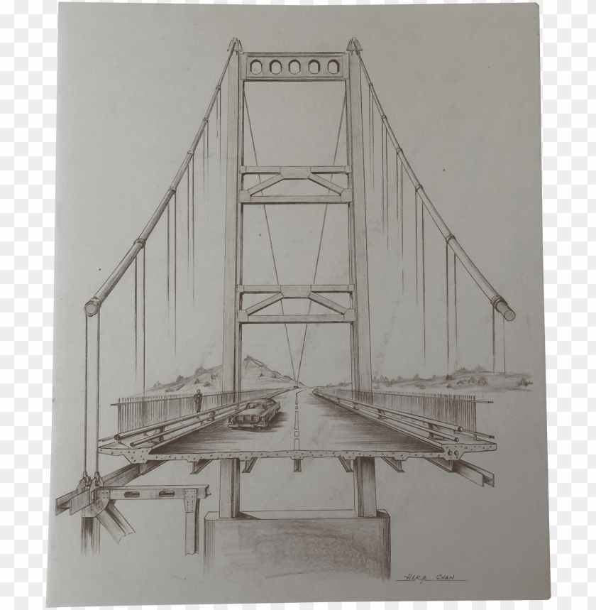 free PNG mid century golden gate architectural sketch chairish - golden gate dessi PNG image with transparent background PNG images transparent
