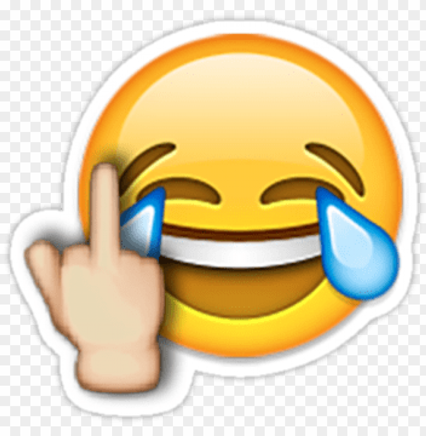 """free PNG middle finger laughing emoji"""" stickers by nsty - laughing emoji with middle finger PNG image with transparent background PNG images transparent"""