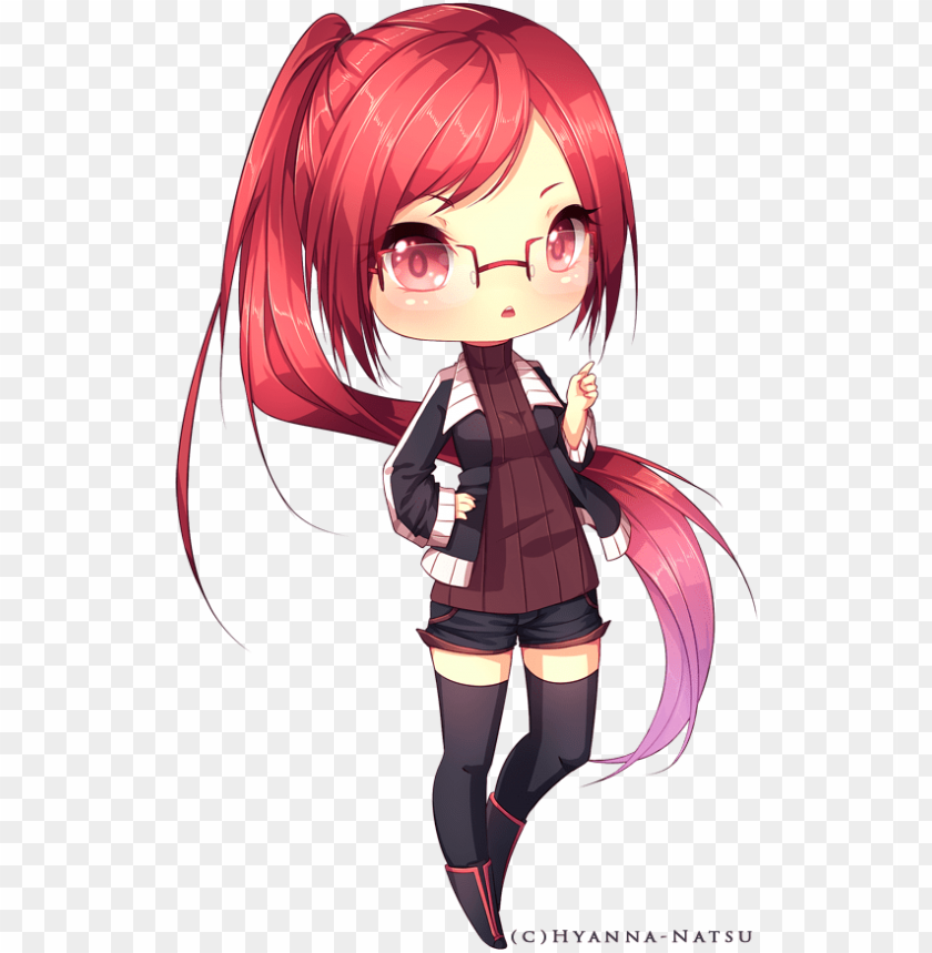 Miginta By Hyanna Natsu On Deviantart Long Hair Anime Girl Chibi Png Image With Transparent Background Toppng
