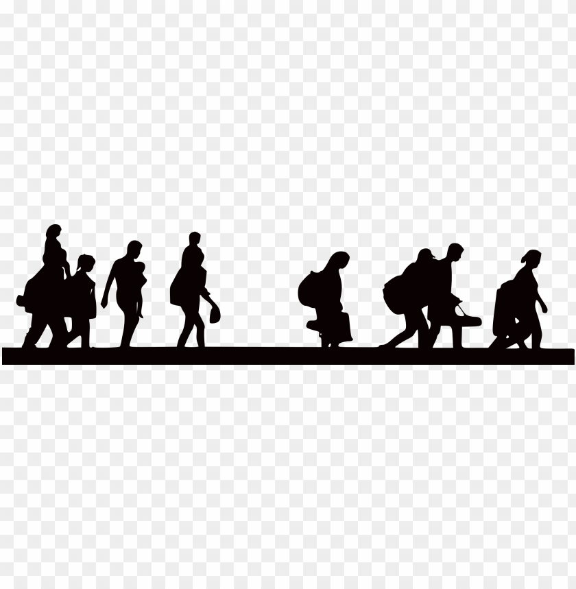 free PNG migration clipart immigrant family - refugee silhouette PNG image with transparent background PNG images transparent