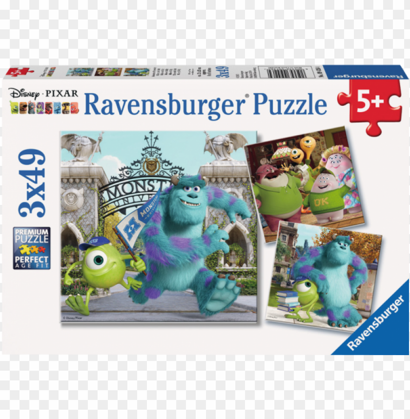free PNG mike and sully - ravensburger puzzle: mike and sully PNG image with transparent background PNG images transparent