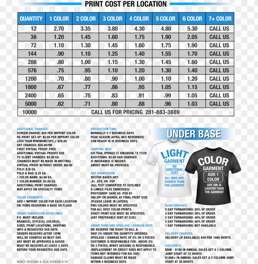 free PNG mikey designs t-shirt screen printing price list - contract screen printing price list 2018 PNG image with transparent background PNG images transparent