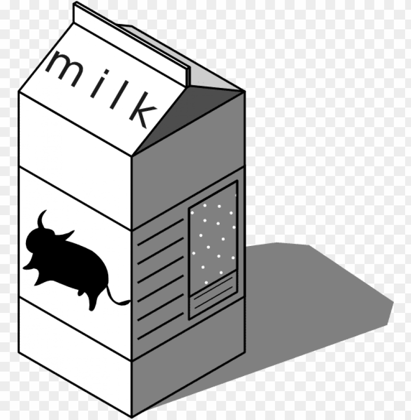 free PNG milk carton black and white clipart - low fat milk cartoo PNG image with transparent background PNG images transparent