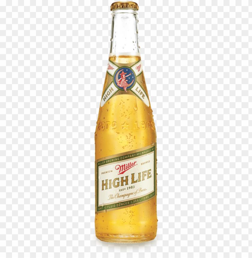free PNG miller high life beer bottle - miller high life PNG image with transparent background PNG images transparent