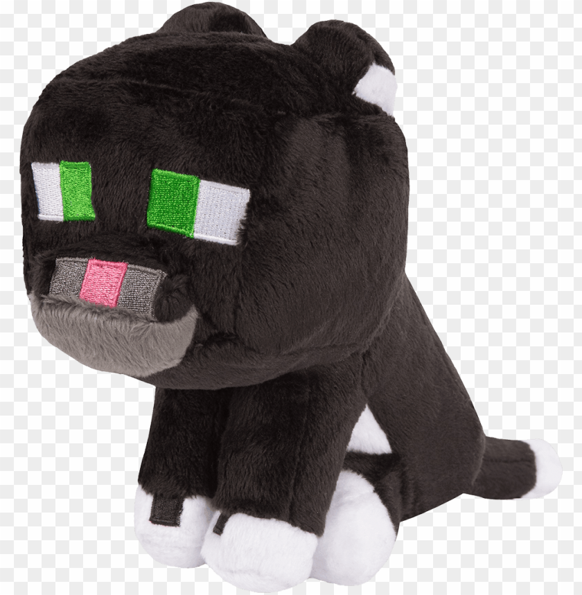 free PNG minecraft 8 inch tuxedo cat plush - minecraft cat plush PNG image with transparent background PNG images transparent