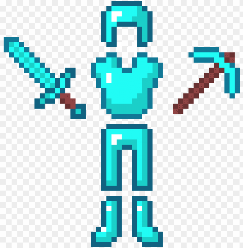 free PNG minecraft diamond tools and armor - diamond armor and tools PNG image with transparent background PNG images transparent
