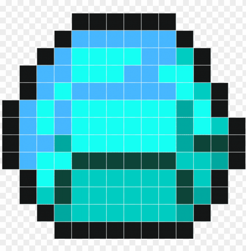 free PNG minecraft diamond wall decals stickaz - minecraft diamond pixel art PNG image with transparent background PNG images transparent