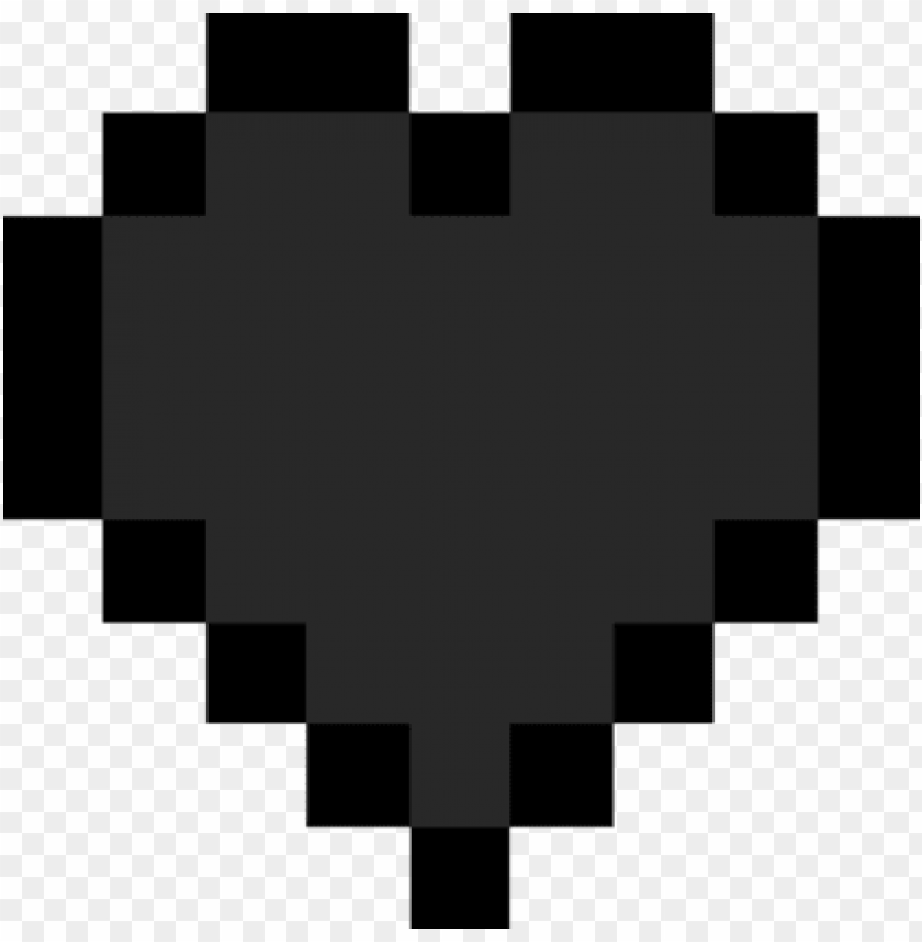 Minecraft Heart Png Minecraft Heart Black And White Png Image With Transparent Background Toppng