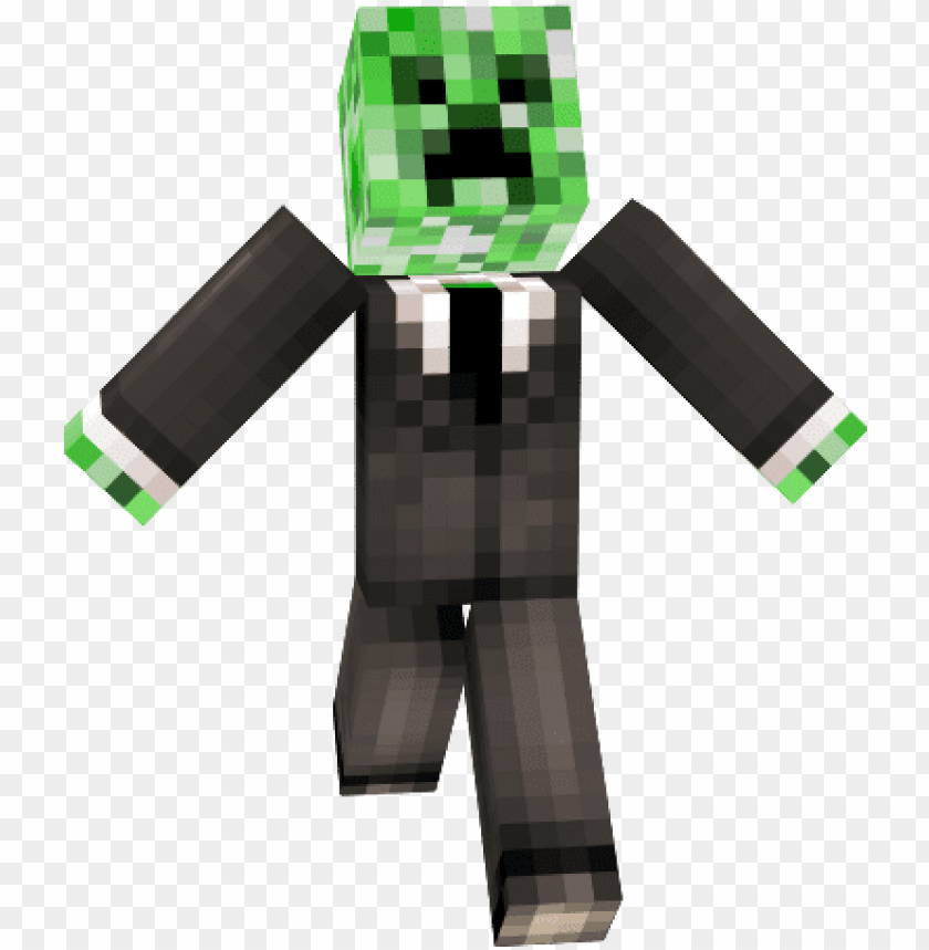 free PNG minecraft minecraft creeper in a suit skin - minecraft skins mobs in suits PNG image with transparent background PNG images transparent