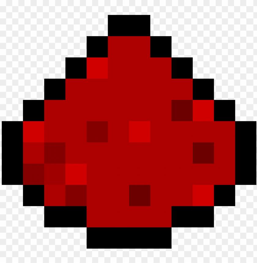 Minecraft Redstone Pixel Art Minecraft Redstone Png Image