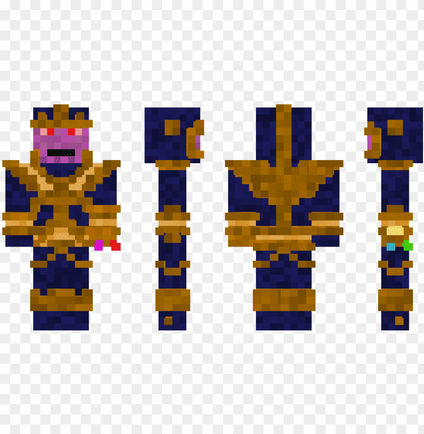 free PNG minecraft skin thanos - skin de minecraft de thanos PNG image with transparent background PNG images transparent